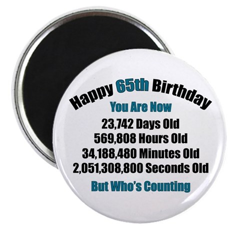 "65 'Years' Old 2.25"" Magnet (10 pack)"