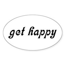 Get Happy Oval Decal