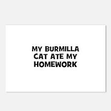 My Burmilla Cat Ate My Homewo Postcards (Package o