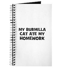 My Burmilla Cat Ate My Homewo Journal