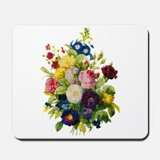 Redoute Summer Rose Bouquet Mousepad