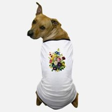Redoute Summer Rose Bouquet Dog T-Shirt