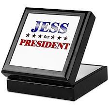 JESS for president Keepsake Box