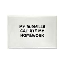 My Burmilla Cat Ate My Homewo Rectangle Magnet