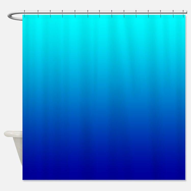 Aqua Blue Shower Curtain
