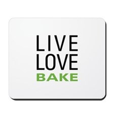 Live Love Bake Mousepad