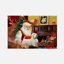 Santa's Sealyham Terrier Rectangle Magnet