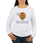No Turkey Here Thanksgiving Women's Long Sleeve T-