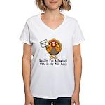 No Turkey Here Thanksgiving Women's V-Neck T-Shirt