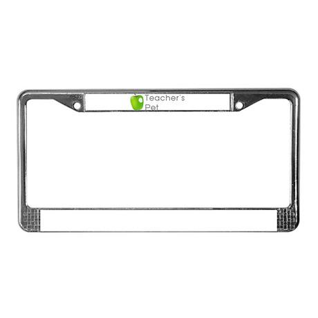 Teacher's Pet License Plate Frame
