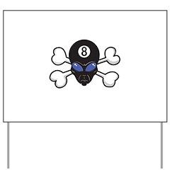 8 (Eight) Ball Alien & Crossbones Yard Sign