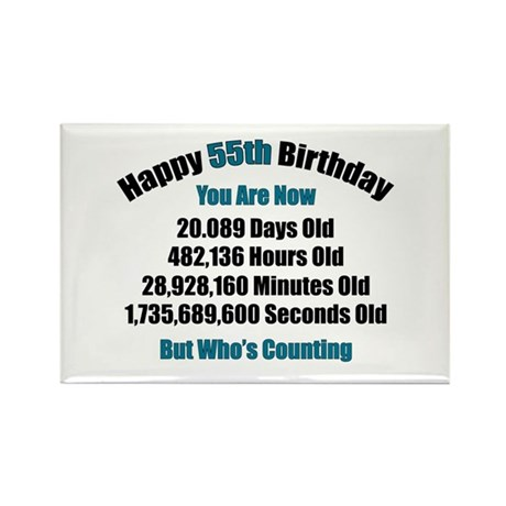 55 'Years' Old Rectangle Magnet (100 pack)