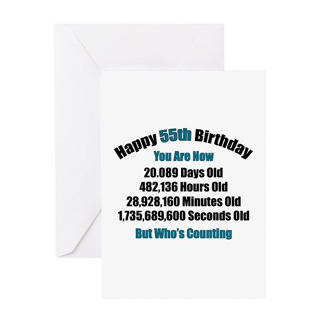 55 'Years' Old Greeting Card