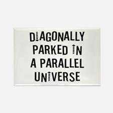 Diagonally Parked Rectangle Magnet