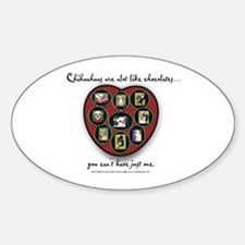 Chihuahuas - like chocolates Oval Stickers