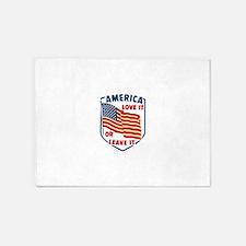 America Love it 5'x7'Area Rug