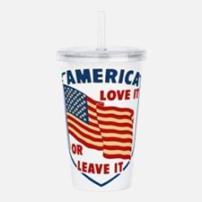 America Love it Acrylic Double-wall Tumbler