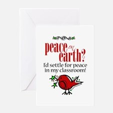 Peace in the Classroom Greeting Card