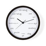Gaeilge Wall Clocks