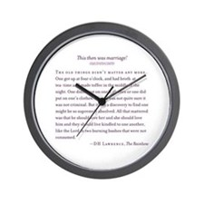 This Then Was Marriage Wall Clock