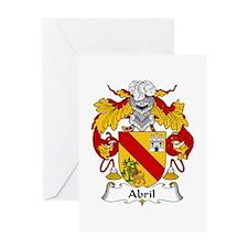 Abril Greeting Card