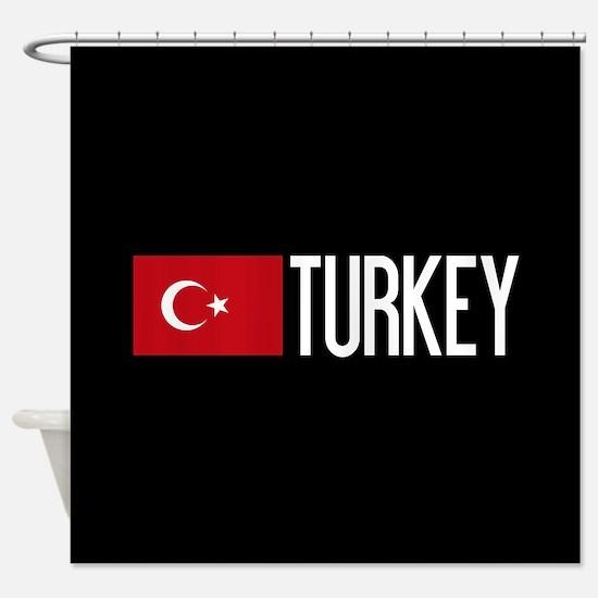 Turkey: Turkish Flag & Turkey Shower Curtain