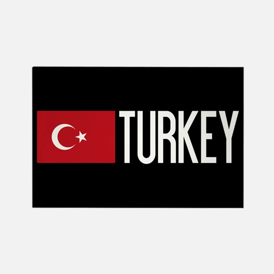 Turkey: Turkish Flag & Turkey Rectangle Magnet