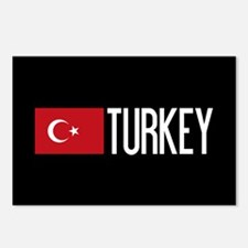 Turkey: Turkish Flag & Tu Postcards (Package of 8)