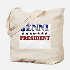 JENNI for president Tote Bag