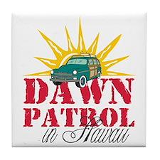 Dawn Patrol in Hawaii Tile Coaster