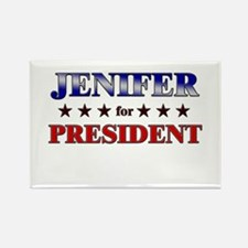 JENIFER for president Rectangle Magnet