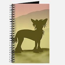 Hazy Sunrise Crested Journal