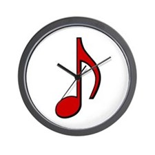 Retro Red Note Wall Clock