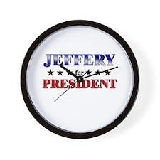 JEFFERY for president Wall Clock