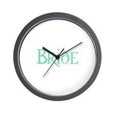 Bride -Pale Green Wall Clock