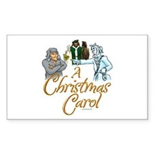 A Christmas Carol Rectangle Decal