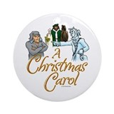 A christmas carol Round Ornaments