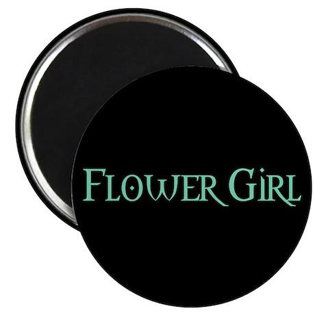 Flower Girl - Pale Green Magnet
