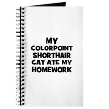 My Colorpoint Shorthair Cat A Journal