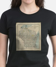 Vintage Map of Wisconsin (1895) T-Shirt