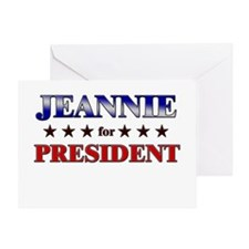 JEANNIE for president Greeting Card