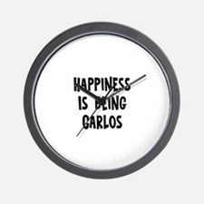 Happiness is being Carlos Wall Clock