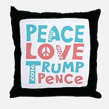 peace love trump pence Throw Pillow