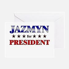 JAZMYN for president Greeting Card