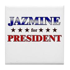 JAZMINE for president Tile Coaster