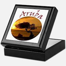 Aruba-Sunsets Logo Keepsake Box