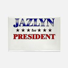 JAZLYN for president Rectangle Magnet