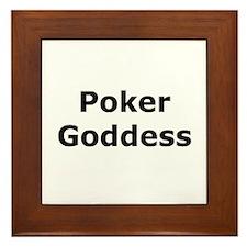 Poker Goddess Framed Tile