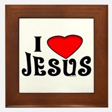 I Love Jesus Framed Tile