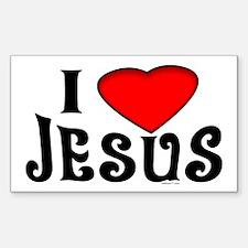 I Love Jesus Rectangle Stickers